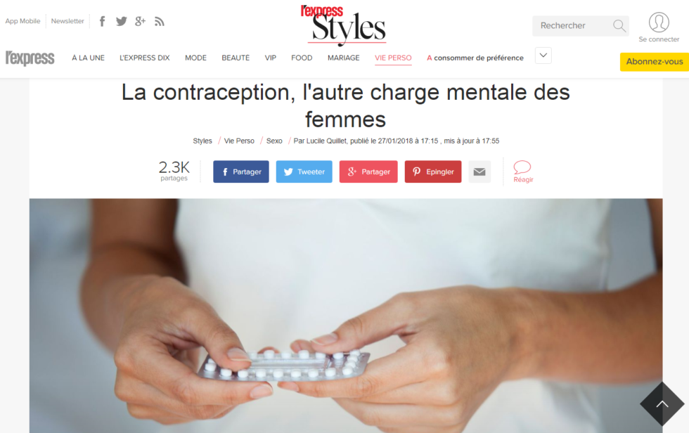 Charge contraceptive charge mentale