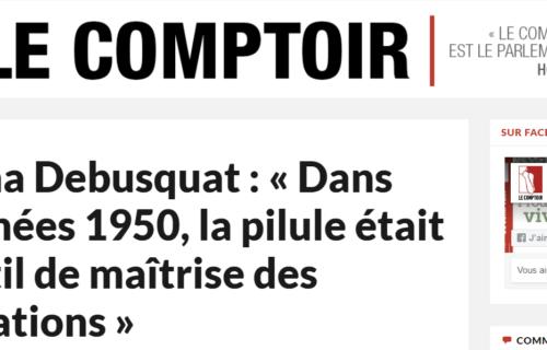 Itw Le Comptoir sabrina debusquat pilule pollution eau histoire