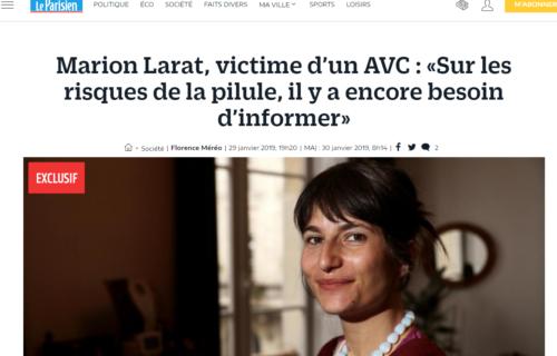 Marion Larat pilule adaptation livre film téléfilm